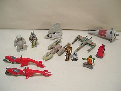 Lot Of 12 Vintage Star Wars Micro Machines Figures Muflak R2D2 C3Po Royal Guard