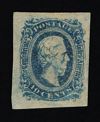 Genuine Confederate Csa Scott #11 Mint Og Blue Die-A Archer & Daly Printing