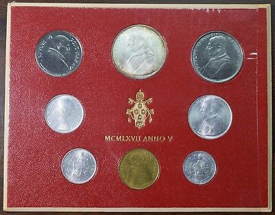1967 Vatican Pope Paul VI - 5th Year Commemorative Coins