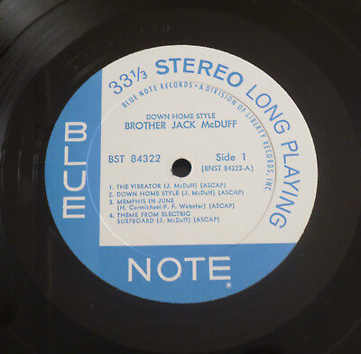 Brother Jack McDuff - Down Home Style (1969) LP (VG++)  Very RARE Blue Note 1st