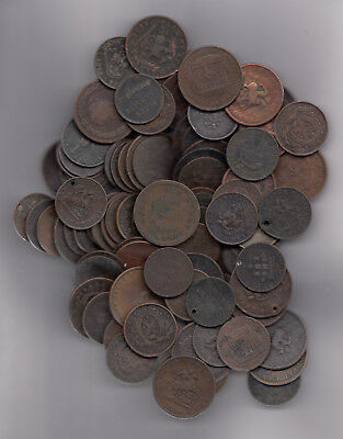 1812-57 Canada Tokens Lot Of 100