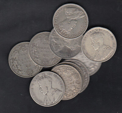 1911-36 Canada 50 Cents Silver Coins Lot Of 10
