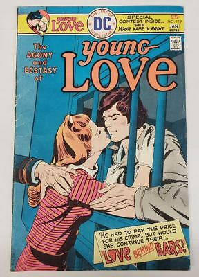 Young Love #119  DC Comics 1976 Prison Cover VG