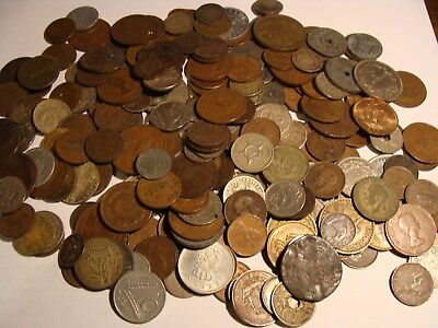 * (229) pc. mega-lot of Vintage World Coins - some silver!