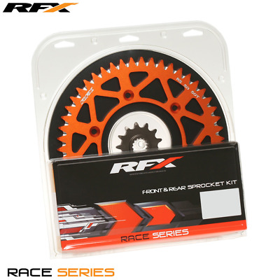 RFX Front & Rear Aluminium Orange Sprocket Kit 13/52 Teeth KTM SX/EXC SXF/EXCF
