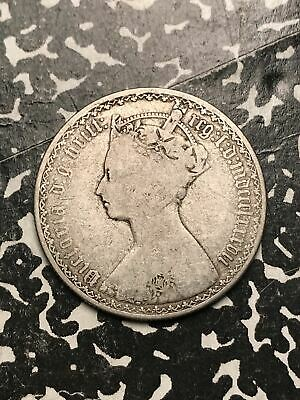1887 Great Britain Gothic Florin Lot#X6814 Silver! Better Date!