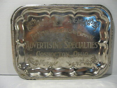 The Novelty Advertising Company Chrome Plated Tray Advertising Specialties Cosho
