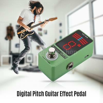 Mini Chromatic Led Guitar Bass Tuner Pedal Effect True Bypass Gree