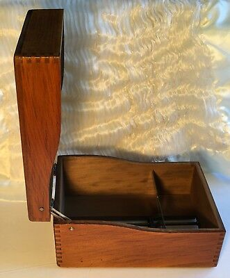 Vintage Weis Wood Dovetail File Box - 8 x 5 Index Card Library Recipe Box