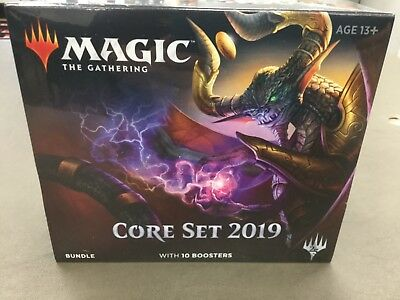 X1 Magic The Gathering Core Set 2019 Factory Sealed Bundle Box With 10 Packs +