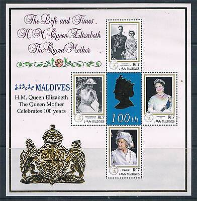 Maldive Is 2000 Queen Mother 100th Birthday SG 3124/7 MNH