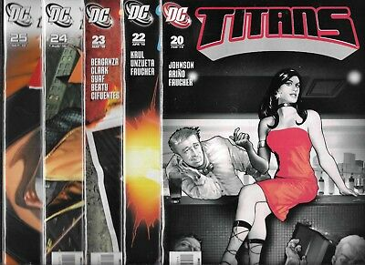 Titans 2008 Series Lot Of 5 - #20 #22 #23 #24 #25 (Vf/nm) Teen Titans