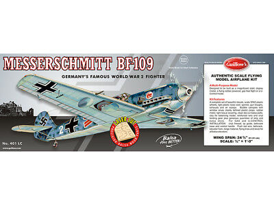 MESSERSCHMITT BF-109 Guillows Flying Balsa wood kit#401