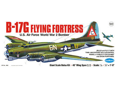 B17G Flying Fortress Guillow's Flying Balsa wood model kit#2002