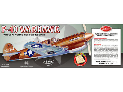 CURTISS P40 WARHAWK Flying Tiger Guillows Balsa wood kit#405