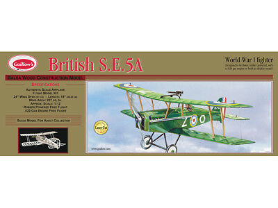 British S.E. 5A Flying Balsa wood kit Guillow's Balsa Wood model kit#0202