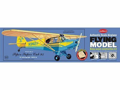 Piper Super Cub 95 Balsa Wood 1/18 scale Guillow's Flying Model kit#303