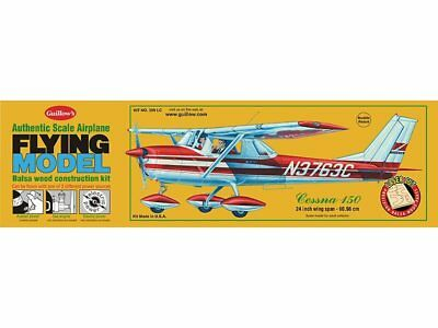 Cessna 150 Balsa Wood 1/16 scale Guillow's Flying Model kit#309