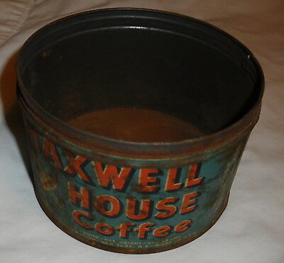 vintage Maxwell House coffee Tin Can EMPTY Vita Fresh Vacuum packed