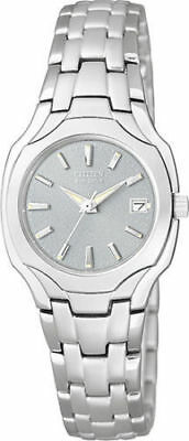 NEW Citizen EW1250-54A  Eco-Drive Silver Dial Stainless Steel Women's Watch