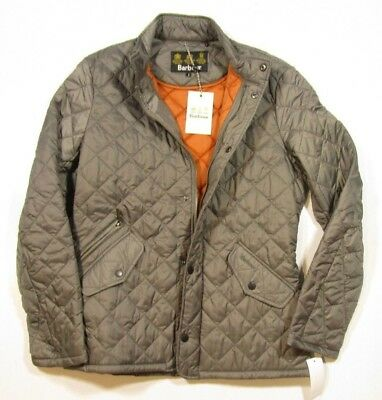 Barbour Men's Gray Chelsea Flyweight Quilted Full Zip Jacket