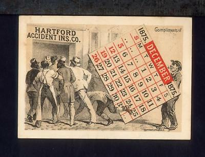 Comic HARTFORD ACCIDENT INSURANCE Racist Trade Card Black Man Married & LYNCHED
