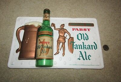 1956 Pabst OLD TANKARD ALE 3-D bottle sign  Milwaukee, Wisconsin