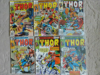 The Mighty Thor 6 Issue Lot #270,,271,277,280,282,284 Iron Man,hyperion