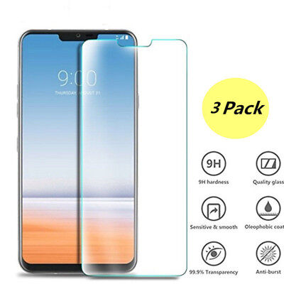 For LG G7 Thinq Tempered Glass Screen Protector Film Rounded Edge Full 9H Cover