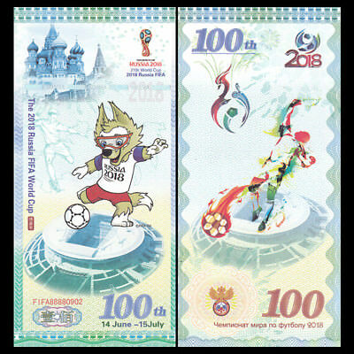 The 2018 Russia FIFA World Cup, 100 Test Note, COMM. UNC