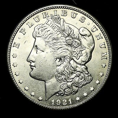 1921 S ~**ABOUT UNCIRCULATED AU**~ Silver Morgan Dollar Rare US Old Coin! #95