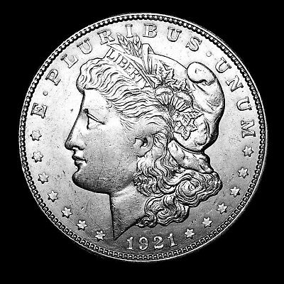 1921 D ~**ABOUT UNCIRCULATED AU**~ Silver Morgan Dollar Rare US Old Coin! #869