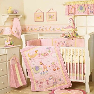 Lamb And Ivy Jungle Luv infant baby girl bedding bedroom crib set