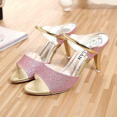 Women Sexy High Heels Peep Toe Platform Stiletto Pumps Party Shoes LG