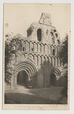 Essex Tarjeta Postal - ST BOTOLPHS PRIORY, oeste frontal, COLCHESTER (A60)