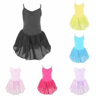 Girl Kids Gymnastic Ballet Leotard Tutu Dress Ballet Dance Wear Outfits Costume
