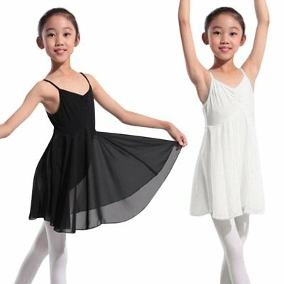 Toddler Girl Kids Gymnastics Dance Dress Ballet Tutu Skirt Leotard Dancewear USA