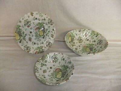 C4 Pottery Johnson Bros - Autumn Delight, Green - dishwasher/microwave safe 3A6C