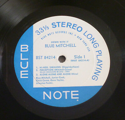 Blue Mitchell - Down With It (1965) LP (VG+) MONSTER Blue Note NY 1st RVG Ear !!