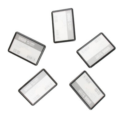 5 Pcs 2-way Black Combi-Clip Name Badges ID Card Holder Closed-dustproof