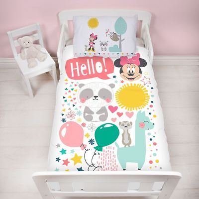 Minnie Mouse Junior Cot Bed Duvet Cover Friends