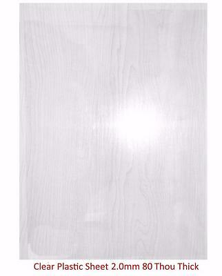 Plasticard - 2.0mm (80 Thou) Clear Plastic Sheet (Approx. A4 Size)