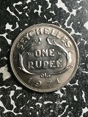 1974 Seychelles 1 Rupee Lot#X6861 High Grade! Beautiful!