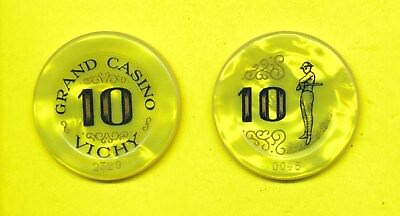 Grand Casino Vichy 10  Francs Jeton Plaque Vichy, Auvergne/France
