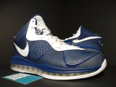 1c58a00c45ed Nike Lebron Viii 8 V 2 New York Yankees Navy Blue White Silver 429676-
