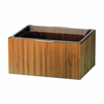 """Cal-Mil 475-10-60 Bamboo 10 x 12"""" Housing with Clear Food Pan"""