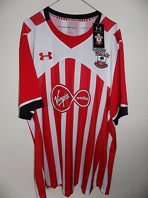 67fc3c8bb southampton fc home football shirt size xxxl fitted by under armour BNWT