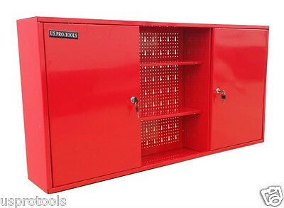 178 Us Pro Tools Red Steel Metal Garage Storage Cupboard Cabinet Tool Chest Box