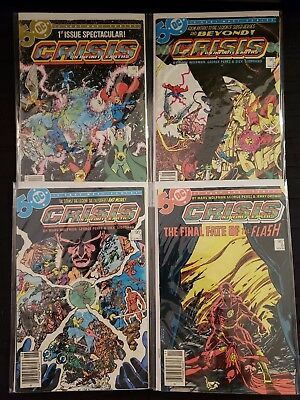 Crisis On Infinite Earths #1 2 3 8 (Dc) Canadian Variant Death Barry Allen Flash