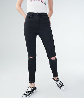 aeropostale womens seriously stretchy super high-waisted ankle jegging